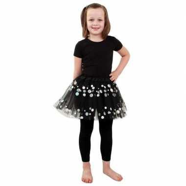Zwarte petticoat met stippen voor meisjes
