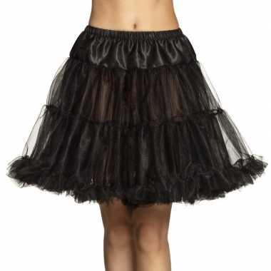 Zwarte petticoat voor dames 45 cm