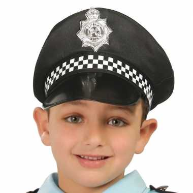 Zwarte politiepet voor kinderen