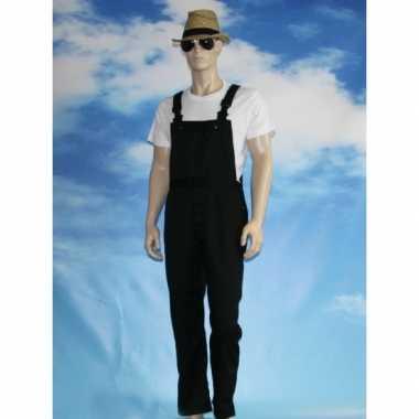 Zwarte tuinbroek overall voor volwassenen