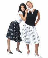 50 s rok zwart met witte stippen