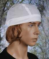 Bandana in de kleur wit uni 1