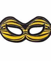Bijen oogmasker geel voor kinderen