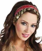 Buikdanseres hoofdband diadeem rood dames verkleedaccessoire
