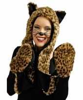 Carnaval dierenpak panter set