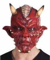 Carnaval duivel masker lucifer met hoorns volwassenen