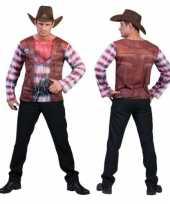 Cowboy t-shirt voor heren