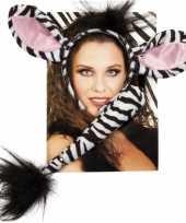 Dieren verkleedset zebra