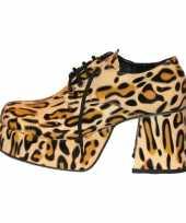 Disco luipaard print schoenen heren