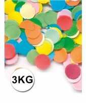 Feestartikelen luxe confetti 3 kilo multicolor
