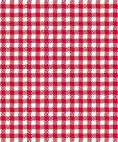 Feestservetten geruit rood wit 3 laags 80 stuks