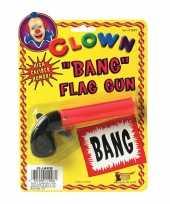 Fopartikelen pistool met bang vlaggetje 10