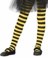 Geel zwart gestreepte kinder maillot 5 9 jaar