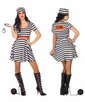 Gevangene boef bonnie verkleed kostuum jurk voor dames