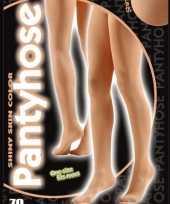 Glimmende dames panty huidskleur