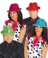 Glimmende rode carnavalshoed voor volwassenen