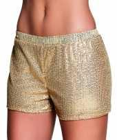 Gouden hotpants met pailletten