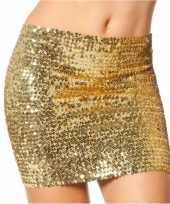 Gouden top rok met pailletten