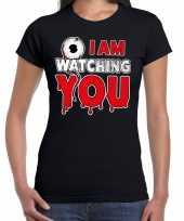 Halloween i am watching you verkleed t-shirt zwart voor dames