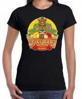 Hawaii feest t-shirt shirt tiki bar aloha zwart voor dames
