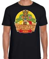 Hawaii feest t-shirt shirt tiki bar aloha zwart voor heren