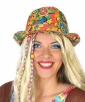 Hippie trilby verkleed hoedje voor volwassenen