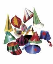 Papieren feesthoedjes 25 stuks voor kids