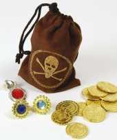 Piraten schat buidel met goudstukke