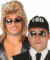 Politie zonnebril spiegelglazen 10078335