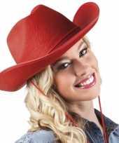 Rode cowboyhoeden