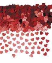Rode glitter hartjes confetti 2 zakjes