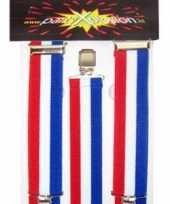 Rood wit blauw carnaval bretels