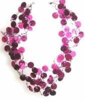 Roze accessoires roze pailletten