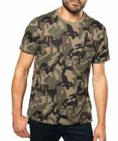 Soldaten leger verkleedkleding camouflage shirt heren