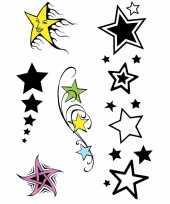 Sterretjes tatoeage set van 10 stuks