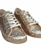 Toppers gouden glitter disco sneakers schoenen voor dames