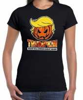 Trumpkin make halloween great again t-shirt zwart voor dames