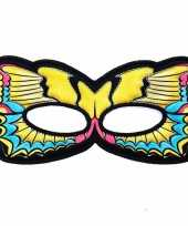 Vlinder oogmasker gele zwaluwstaart voor kinderen