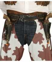 Western cowboy revolvers inclusief dubbele holster