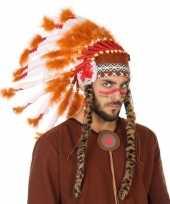 Wit oranje luxe indianen tooi voor heren
