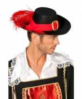Zwarte musketiers hoeden